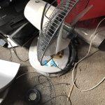 倉敷市児島付近で回収した扇風機です。