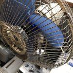 倉敷市四十瀬付近で回収した扇風機です。