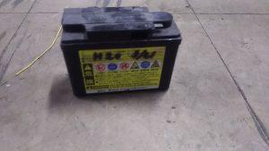 倉敷市連島町付近で回収させて頂いたバッテリー