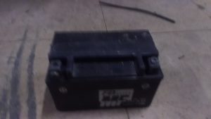 倉敷市真備町付近で回収させて頂いたバッテリー