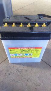 倉敷市老松付近で回収させて頂いたバッテリー