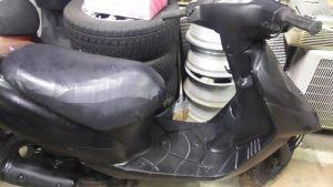 倉敷市船穂町付近で回収させて頂いたバイク