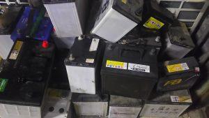 倉敷市黒崎付近で回収させて頂いたバッテリー